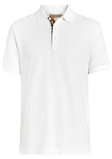 Burberry check trim polo shirt