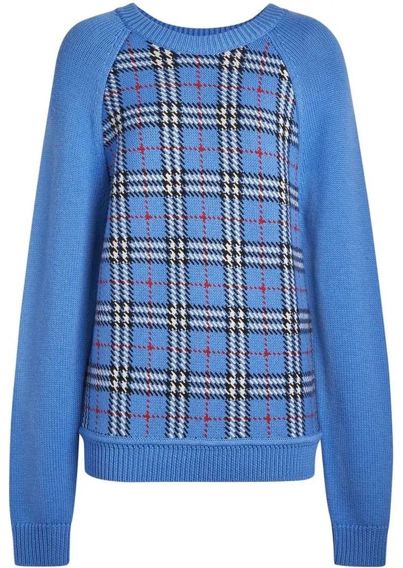 ff84fdc20b92f5 Burberry Check Wool Jacquard Sweater