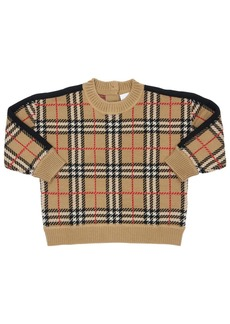 Burberry Check Wool Knit Sweater