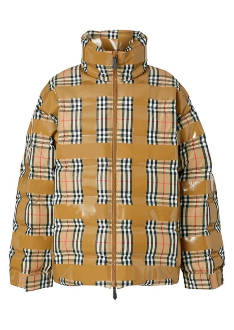 Burberry Checkdown Tape Coat