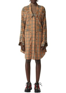 Burberry Checked Cotton Poplin Shirt Dress
