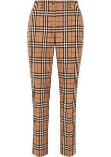 Burberry Checked Cotton-twill Straight-leg Pants
