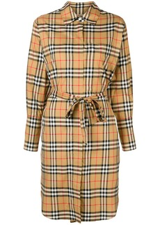 Burberry checked drawstring dress