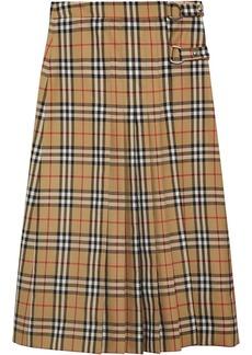 Burberry checked midi skirt
