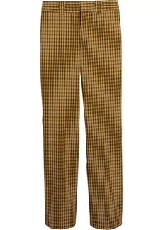 Burberry checked straight-leg trousers