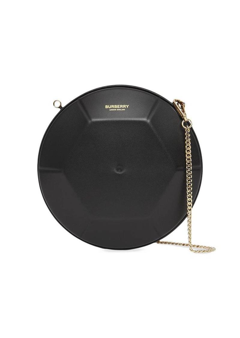 circular clutch bag
