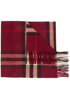 Burberry classic check cashmere scarf