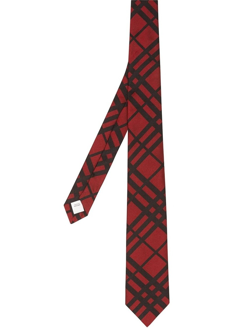 Burberry classic cut check jacquard tie