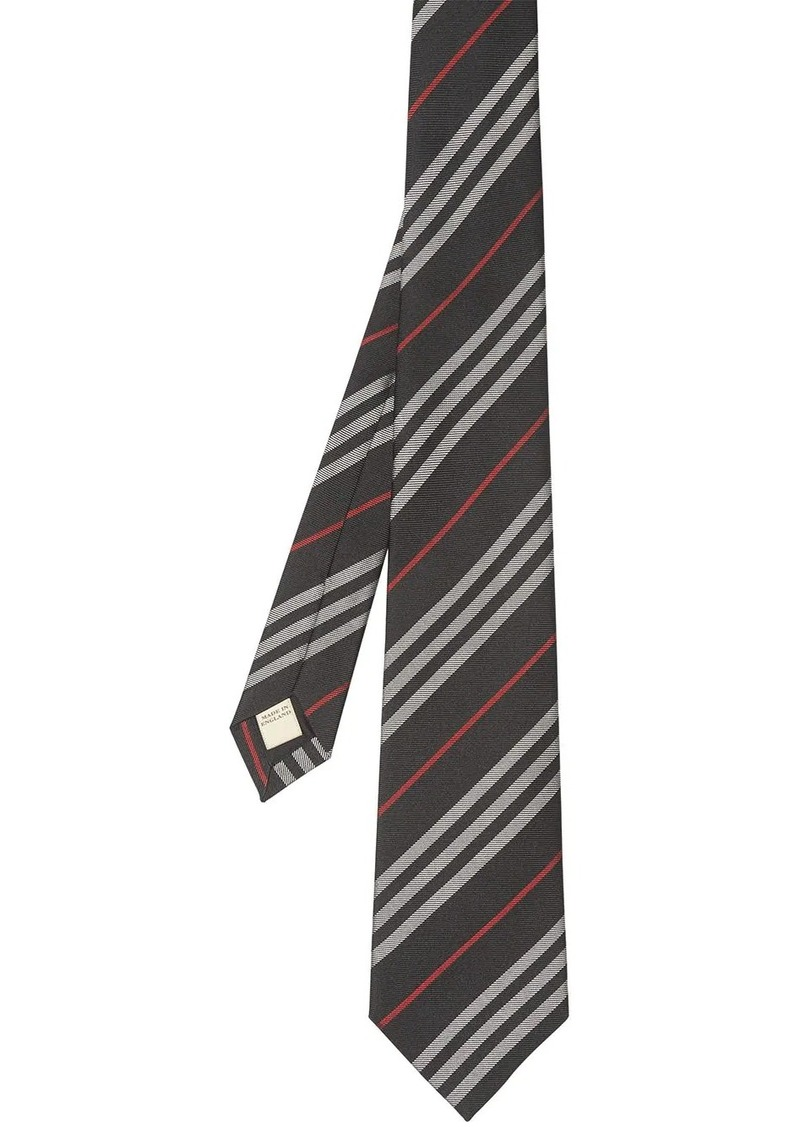 Burberry Classic Cut Striped Silk Jacquard Tie
