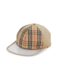 Burberry Clear Brim Check Baseball Cap
