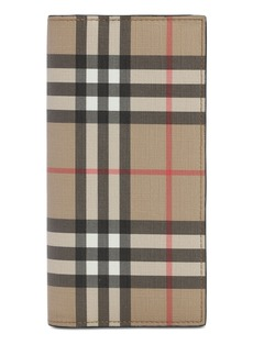 Burberry Cavendish Coated Check Vertical Wallet