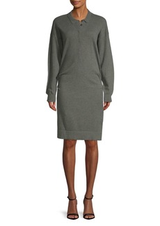 Burberry Collared Sweater Dress