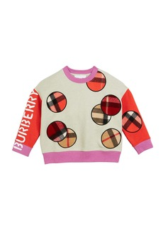 Burberry Colorblock Sweatshirt w/ Scarf Patches  Size 3-14