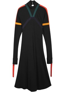 Burberry Colour Block Detail Jersey Turtleneck Dress