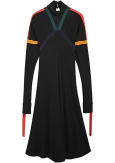 Burberry Colour Block Detail Jersey Turtleneck Dress