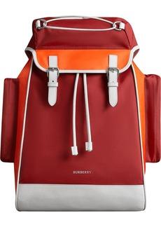 Burberry colour-block logo backpack
