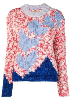 Burberry Chunky Knit Wool Blend Sweater