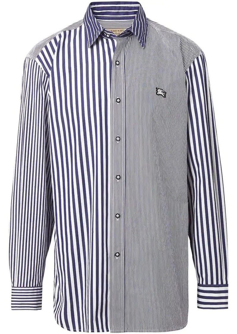 Contrast Stripe Cotton Poplin Shirt