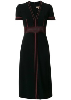 Burberry contrasting stitch detail dress