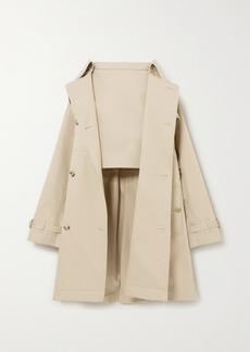 Burberry Convertible Cotton-gabardine Skirt