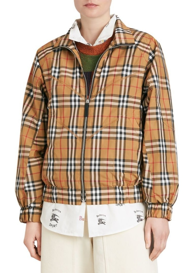 Burberry Corfe Classic Check Tracksuit Jacket   Outerwear 25048c48c1c