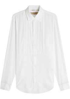 Burberry Cotton Bib Shirt