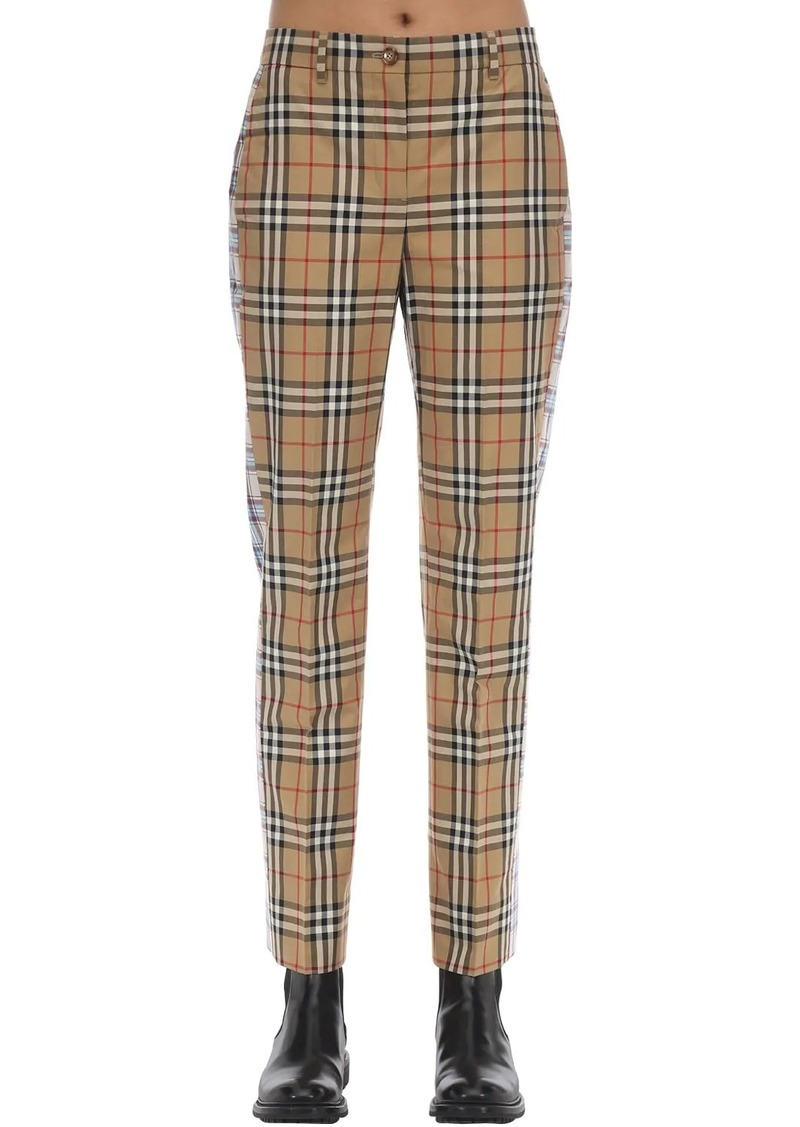 Burberry Cotton Canvas Pants W/ Side Bands