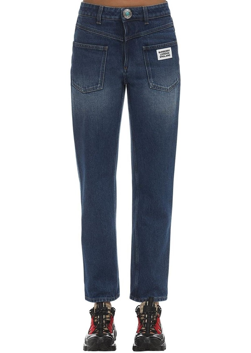 Burberry Cotton Denim Straight Jeans