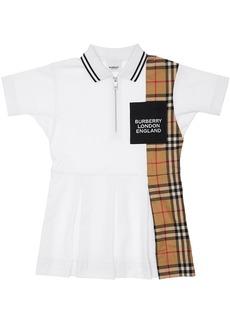 Burberry Cotton Dress W/ Check Print