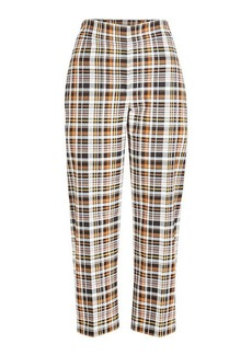 Burberry Cotton High-Waist Pants