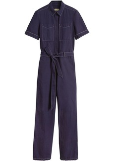 Burberry Cotton Linen Workwear Jumpsuit