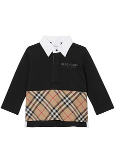 Burberry Cotton Piqué & Poplin Polo Shirt