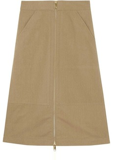 Burberry Cotton Silk High-waisted Skirt