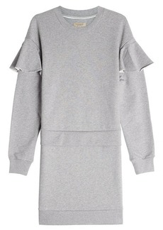 Burberry Cotton Sweat Dress with Ruffles