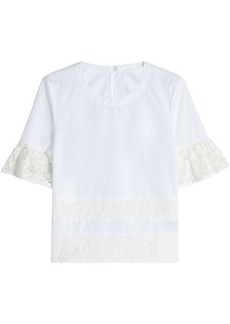 Burberry Cotton Top with Lace