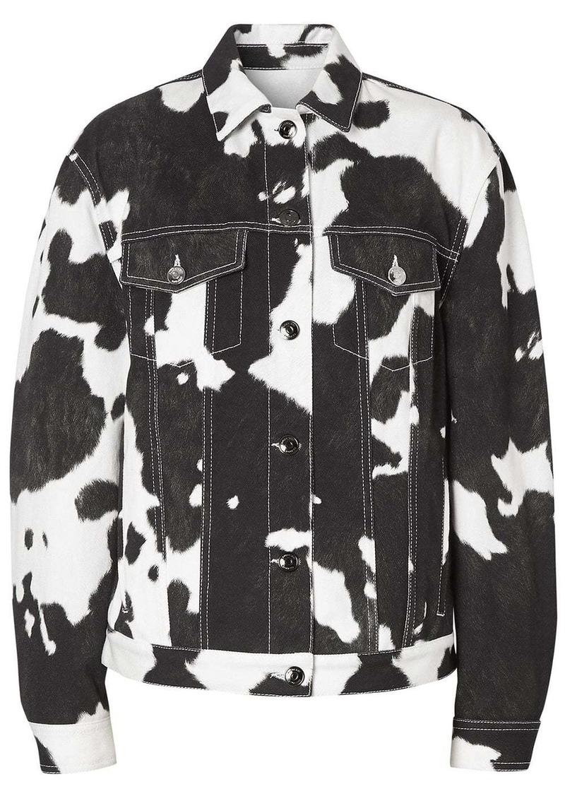 Burberry Cow Print Denim Jacket