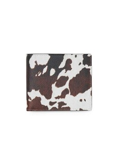 Burberry Cow Print Leather International Bifold Wallet