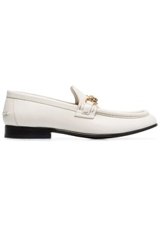 Burberry cream Solway leather loafers