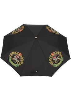 Burberry Crest Print Folding Umbrella