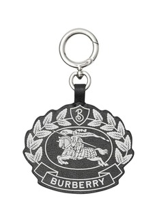 Burberry Crest Print Leather Key Charm
