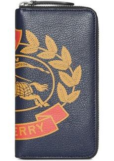 Burberry crest print wallet