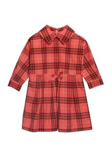 Burberry Crissida Long-Sleeve Plaid Dress