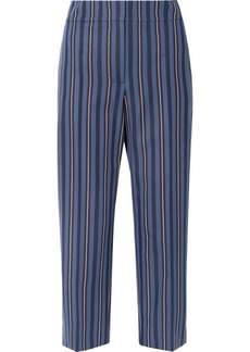 Burberry Cropped Striped Wool-blend Jacquard Straight-leg Pants