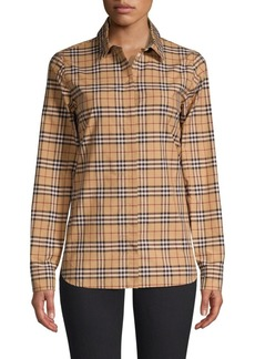 Burberry Crow Vintage Check Button-Down Shirt