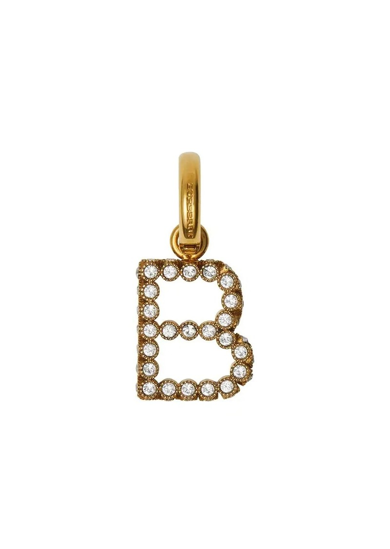 Burberry Crystal 'B' Alphabet Charm