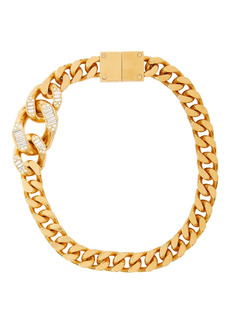 Burberry crystal detail chain-link necklace