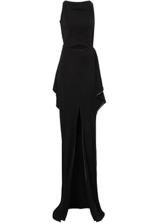 Burberry crystal detail cut-out stretch jersey gown