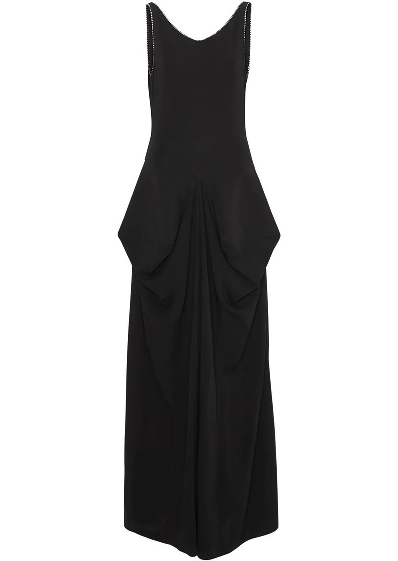 Burberry Crystal Detail Stretch Jersey Gown