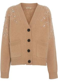 Burberry Crystal-embellished Merino Wool Cardigan
