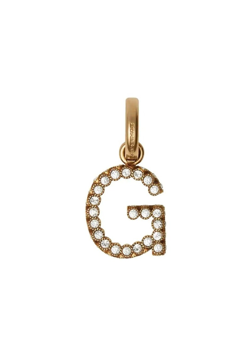 Burberry Crystal 'G' Alphabet Charm